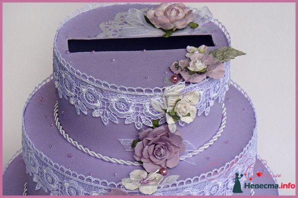 """Казна для денег - Торт """"Лавандовый букет невесты"""" - фото 129745 Ля Стиль - цветы и подарки"""