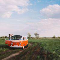 love story с стильным фургоном wolkswagen