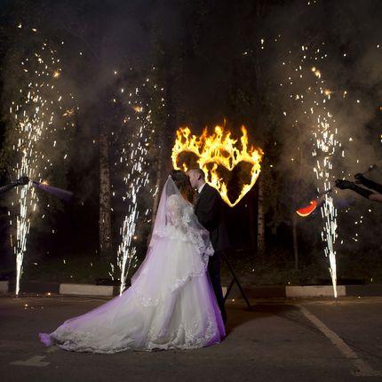Свадебное огненно-пиротехническое шоу