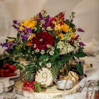 Свадьба в стиле рустик. Оформление стола.