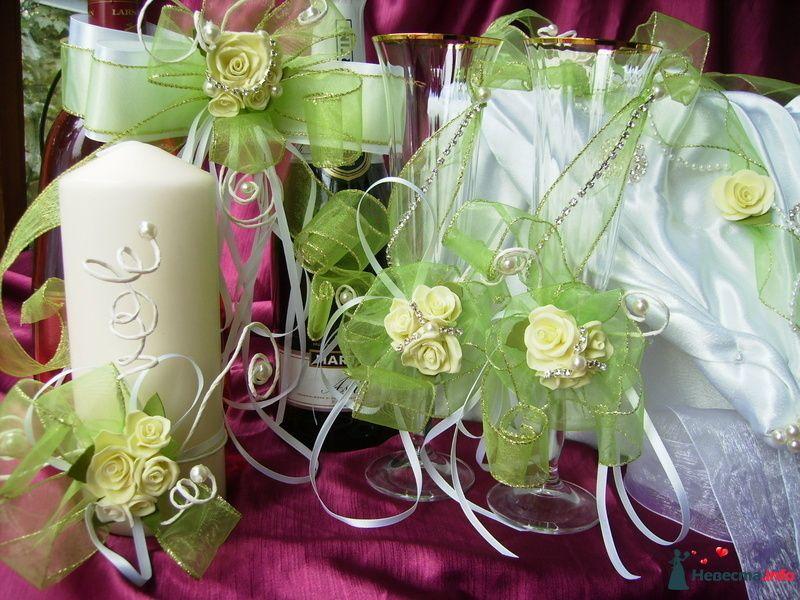Свеча очаг ,свадебные бокалы, бант на шампанское - фото 121514 Невеста01