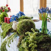 оформление стола молодожен, эко свадьба, рустикальный стиль