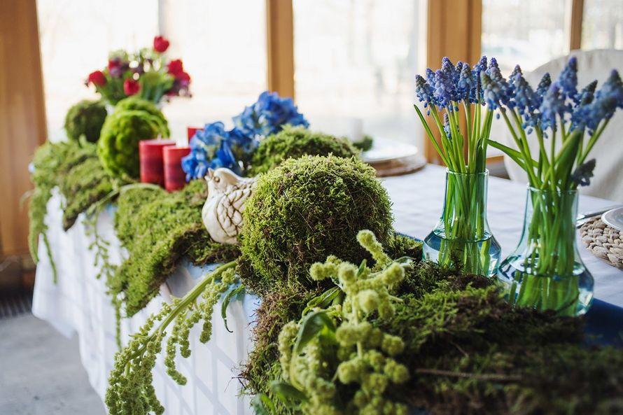 оформление стола молодожен, эко свадьба, рустикальный стиль - фото 2052362 Мастерская флористики и декора Scenario