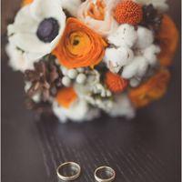 свадебный букет оранжевый