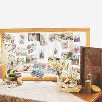 стол для пожеланий, фотографии,рама, рустик