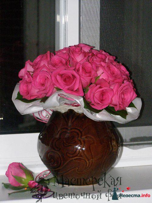 букет невесты+бутоньерка - фото 121620 Мастерская цветочной феи - цветы