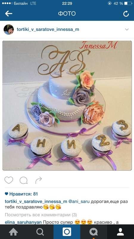 Фото 10195322 в коллекции торты - Иннэсса - свадебные торты из мастики