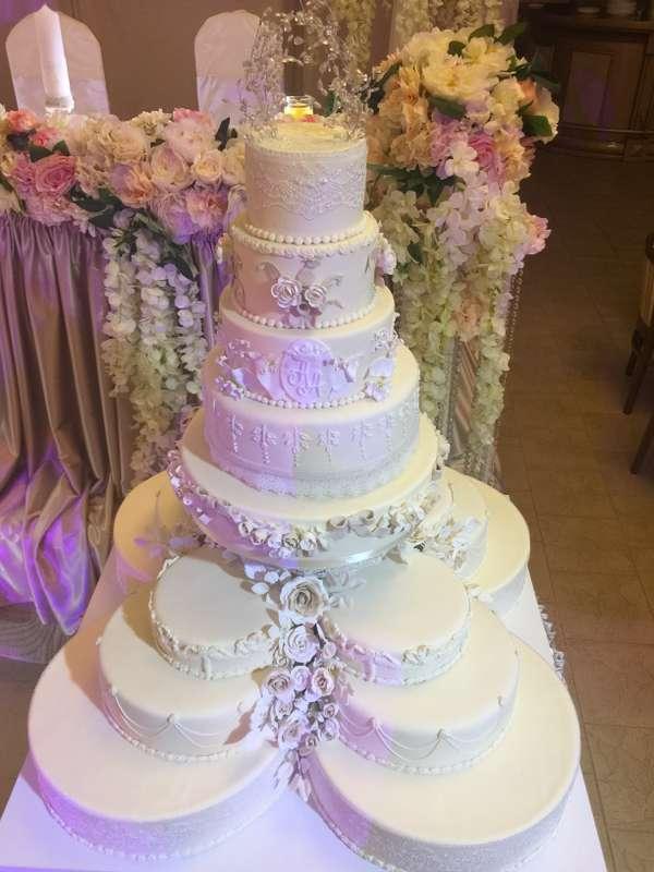 Фото 12260896 в коллекции торты - Иннэсса - свадебные торты из мастики