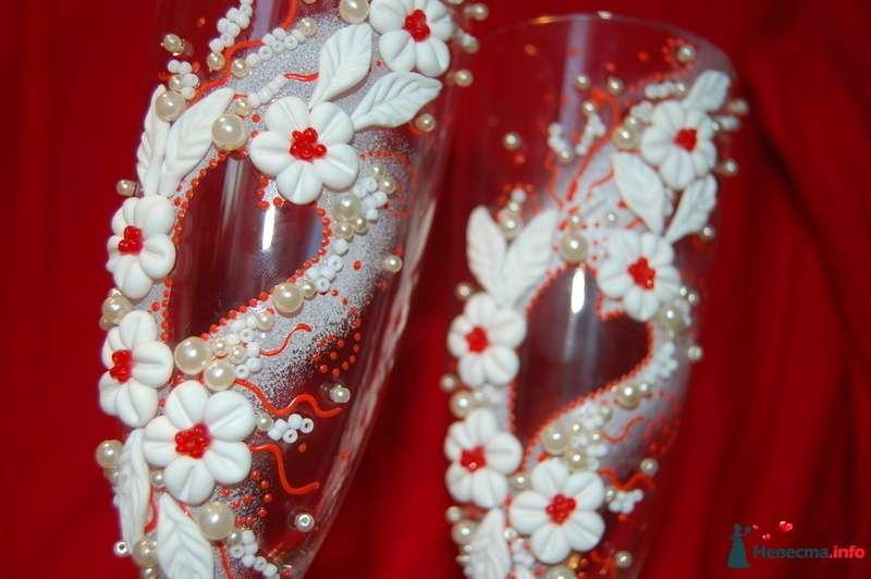 Фото 131074 в коллекции Свадебные бокалы с лепкой!!!! - Кетлин - свадебные бокалы