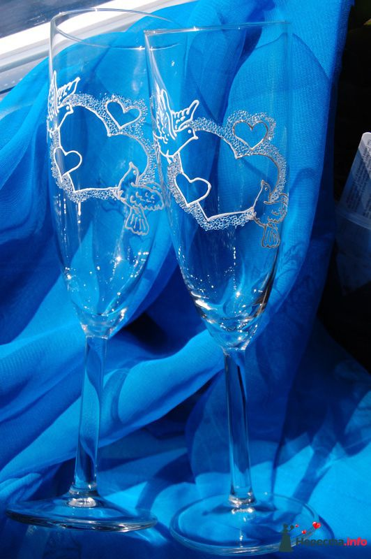 Фото 131079 в коллекции Свадебные бокалы с лепкой!!!! - Кетлин - свадебные бокалы
