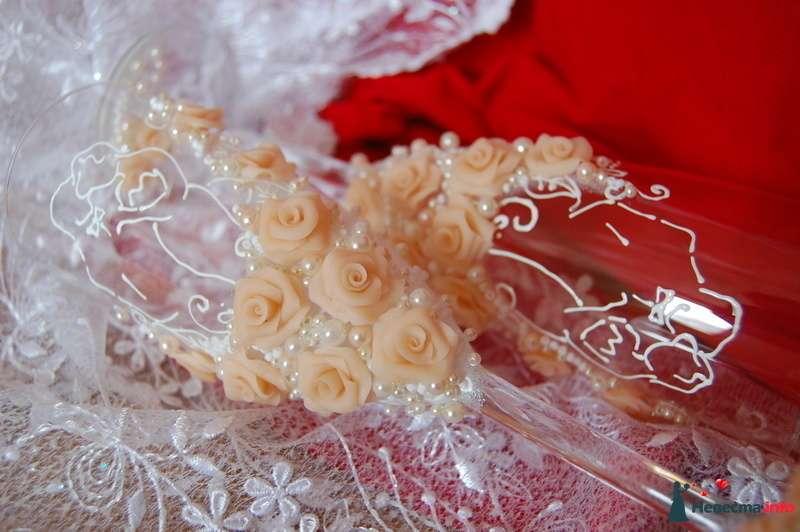 Фото 131082 в коллекции Свадебные бокалы с лепкой!!!! - Кетлин - свадебные бокалы