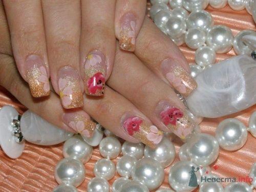 """Фото 10400 в коллекции Наращивание ногтей. Ногти на свадеьбу, торжество и на каждый день. - Студия свадебной моды """"Артрина"""""""