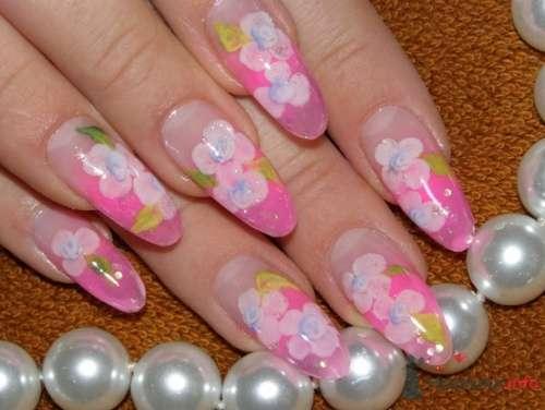 """Фото 10411 в коллекции Наращивание ногтей. Ногти на свадеьбу, торжество и на каждый день. - Студия свадебной моды """"Артрина"""""""