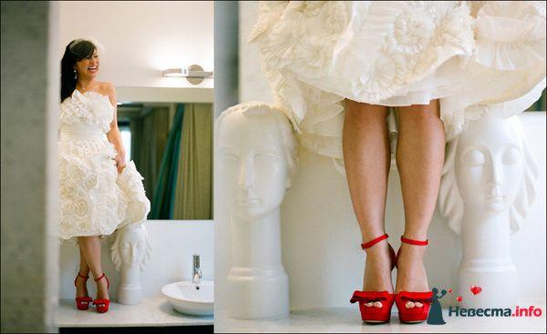 Цветные туфли к свадебному платью