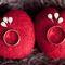 Шерстяные сердечки-подставки для колец