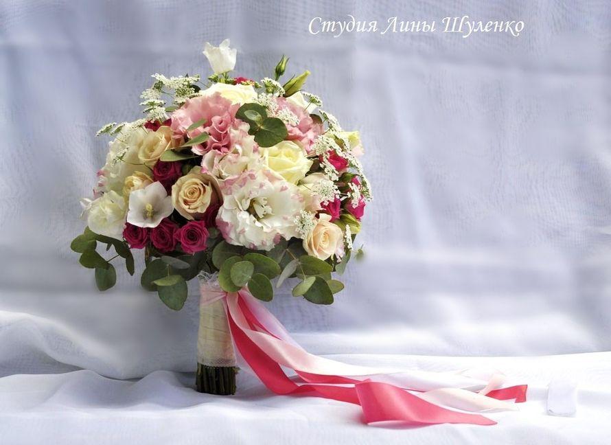 Бело-розовый букет невесты.Свадебный букет невесты в Крыму. - фото 11223906 Флористическая студия Лины Шуленко