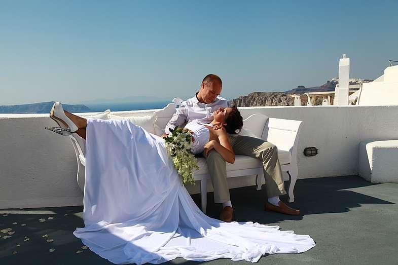 Фото 1339061 в коллекции Андрей и Наталья!!! Фотограф - Эдуард Груздев - Exclusivaweddings - организация свадьбы на Санторини