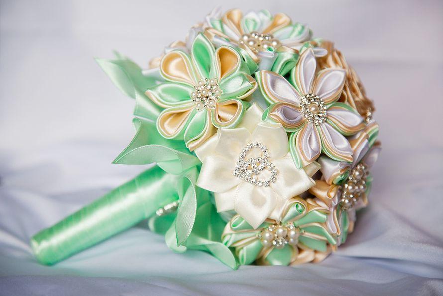 Мастер класс свадебные букеты из лент своими руками 47