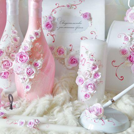 Комплект аксессуаров в розовых тонах