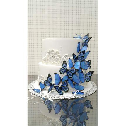 Свадебные торты в голубых тонах, цена за 1 кг