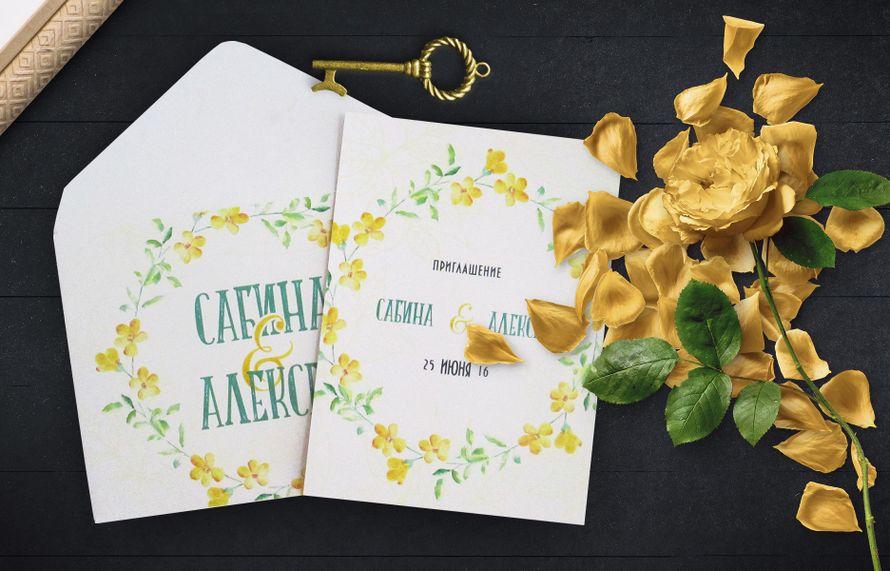 Свадебное приглашение, арт. 0046, цена за 1 шт