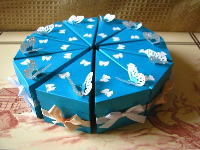 Подарочные коробки торт своими руками