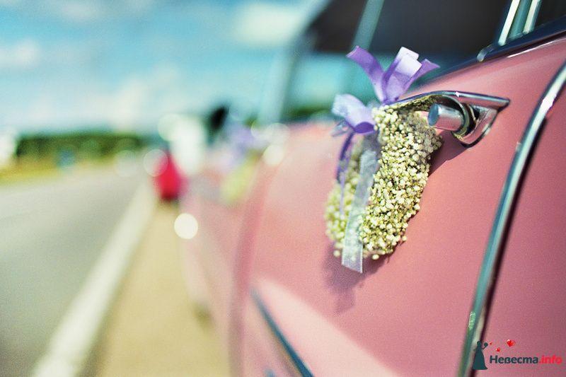 Маленькие веночки с сиреневыми ленточками - украшение на ручки свадебных авто.  - фото 85058 Хлоя