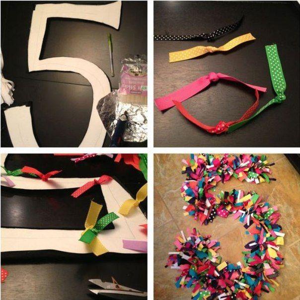 Как сделать цифру на день рождения своими руками фото