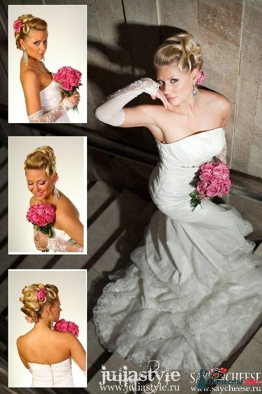 Фото 131846 в коллекции Фотографии свадебных причесок - Свадебный стилист Юлия Зайченко