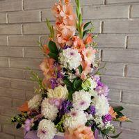 Оформление президиума. Свадьба в сиреневом цвете.