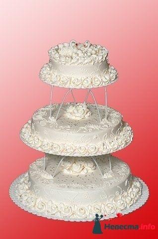 Фото 128290 в коллекции Свадебные торты