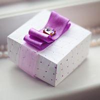бонбоньерка фиолетовая