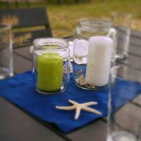 Украшение для гостевых столиков. Пляжная свадьба.  (Фото Perlamutro)