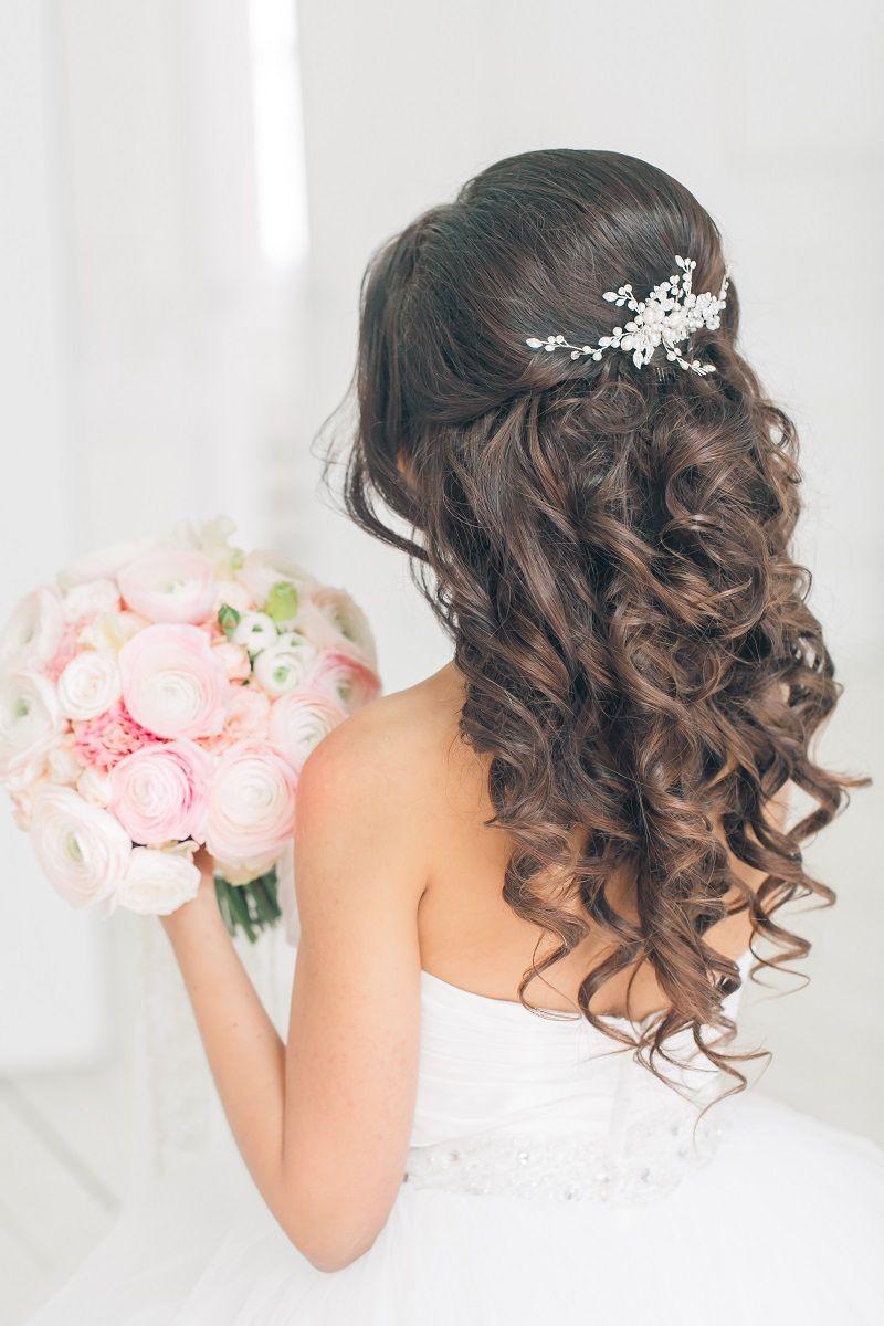 Невеста без фаты фото прическа волосы средней длины распущенные
