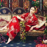 Свадебный букет в индийском стиле