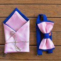 Комплект галстук-бабочка синий с розовым и платочек. Стоимость комплекта - 1190р.  Чтобы заказать пишите в л.с.