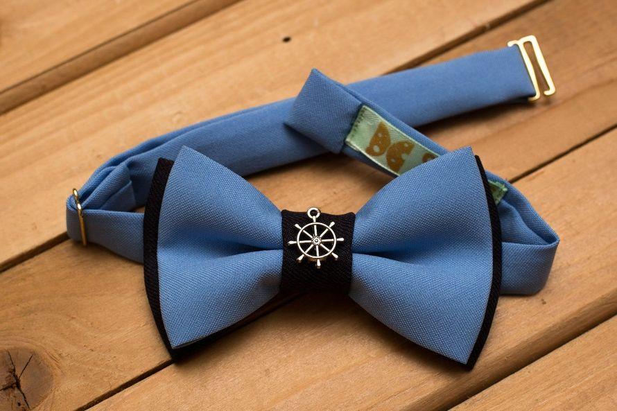 Сине-голубая бабочка со штурвалом. Стоимость бабочки 900р.  По всем вопросам  или по ☎ +7 952 216 48 01 - фото 17459014 CheeseLove - дизайнерские аксессуары ручной работы