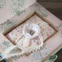 Нежно-розовая подушечка для колец в стиле рустик