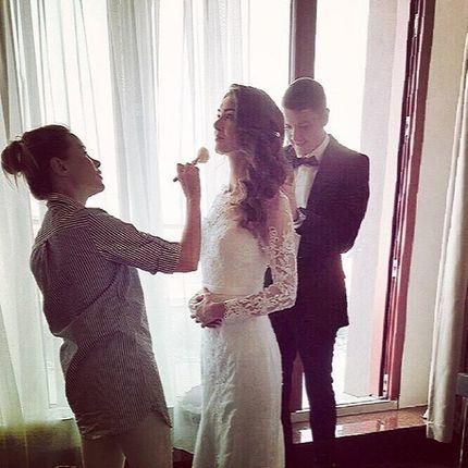 Пробные макияж и причёска невесты