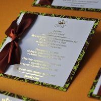 Текст на этих пригласительных фольгированный имеет эффект золота. Возможно выполнить в любом цвете и размере!