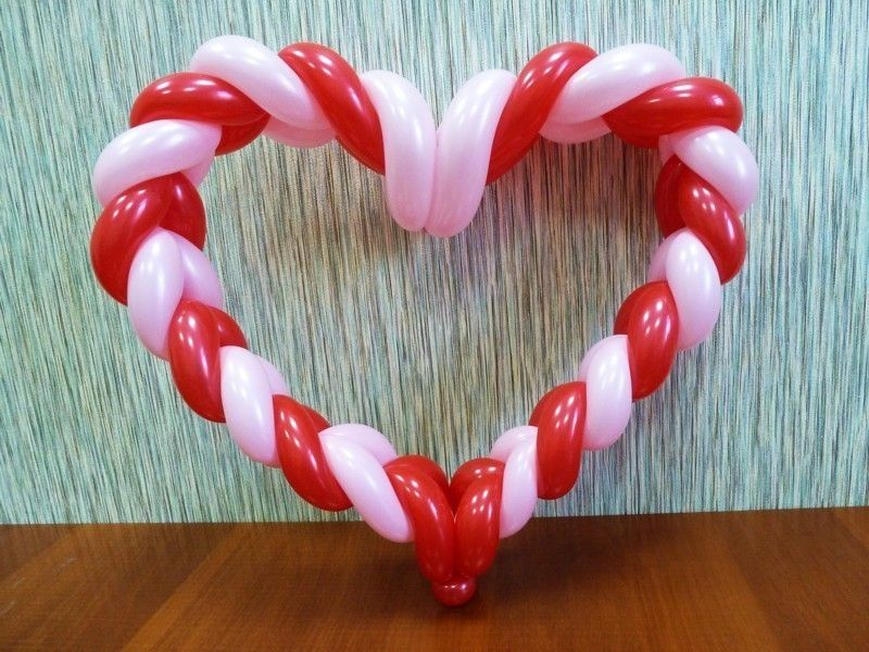Как сделать шар-сердце