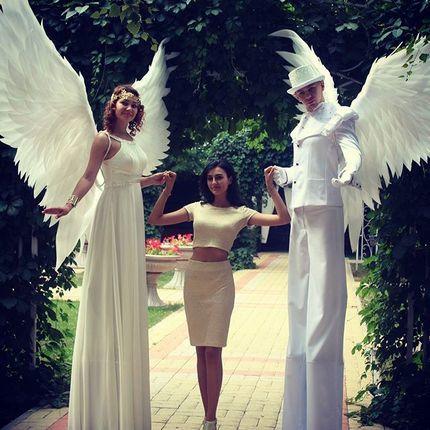 Встреча гостей Ходулисты - ангелы
