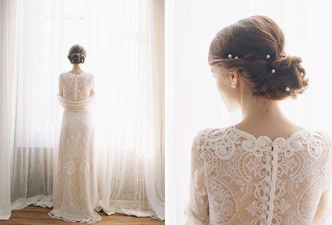 Прически под закрытое платье свадебное платье