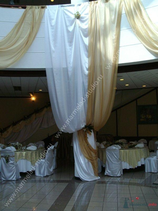 Фото 25794 в коллекции Оформление свадьбы тканями