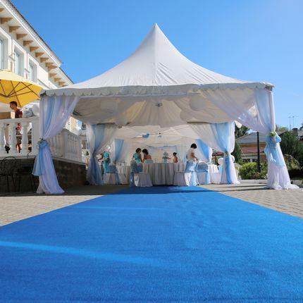 Шатёр для свадьбы с оформлением