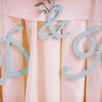 Буквы монограммы с инициалами молодых на свадьбу тиффани