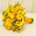 Желтый букет невесты с каллами