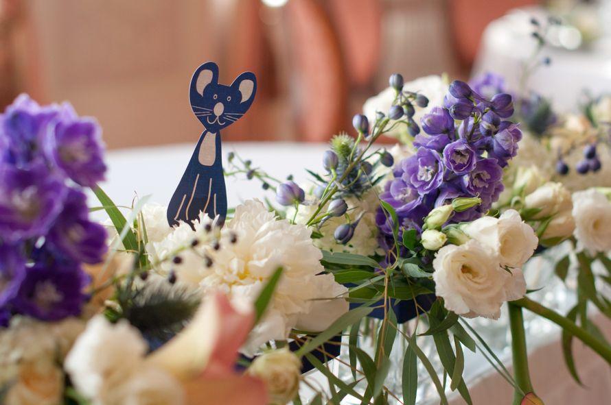 """кошки мышки синяя фиолетовая персиковая свадьба - фото 6443092 Студия флористики и декора """"Глориоза"""""""