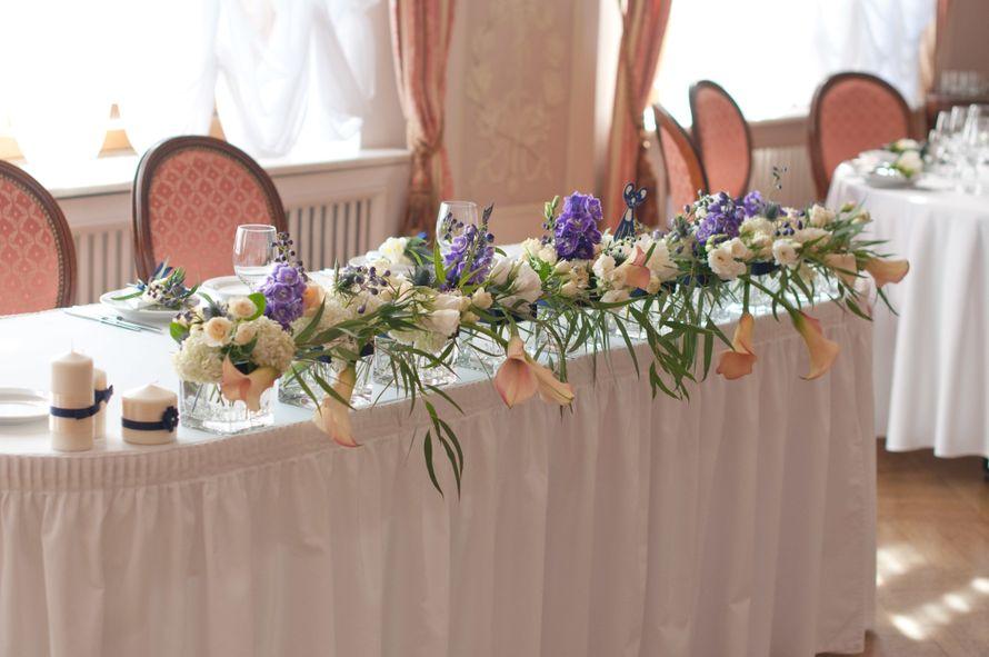 """синяя фиолетовая персиковая свадьба - фото 6443094 Студия флористики и декора """"Глориоза"""""""