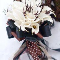 белый черный букет невесты
